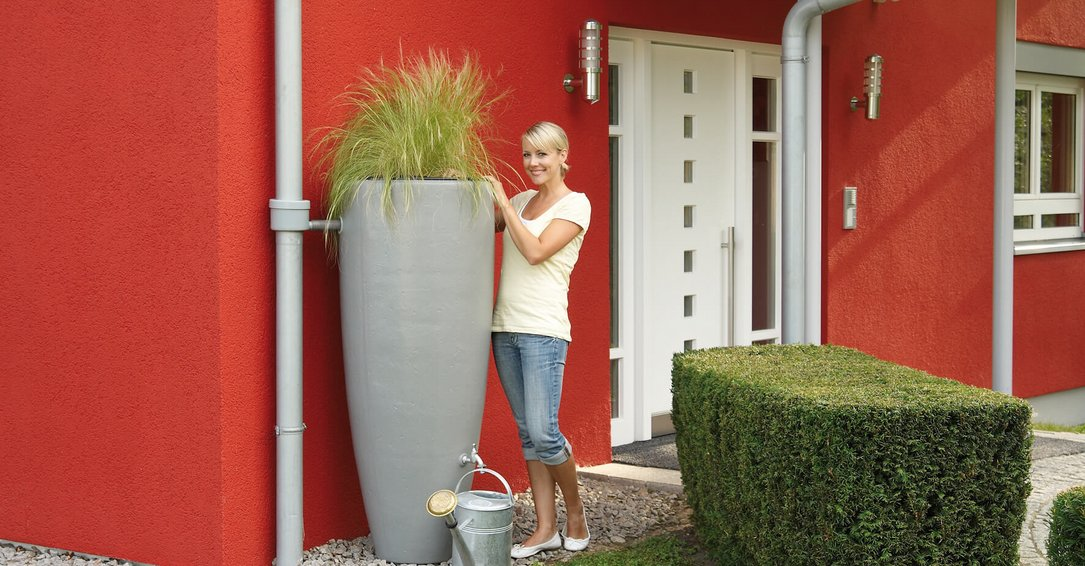 2in1 water tank with plant cup zink grey