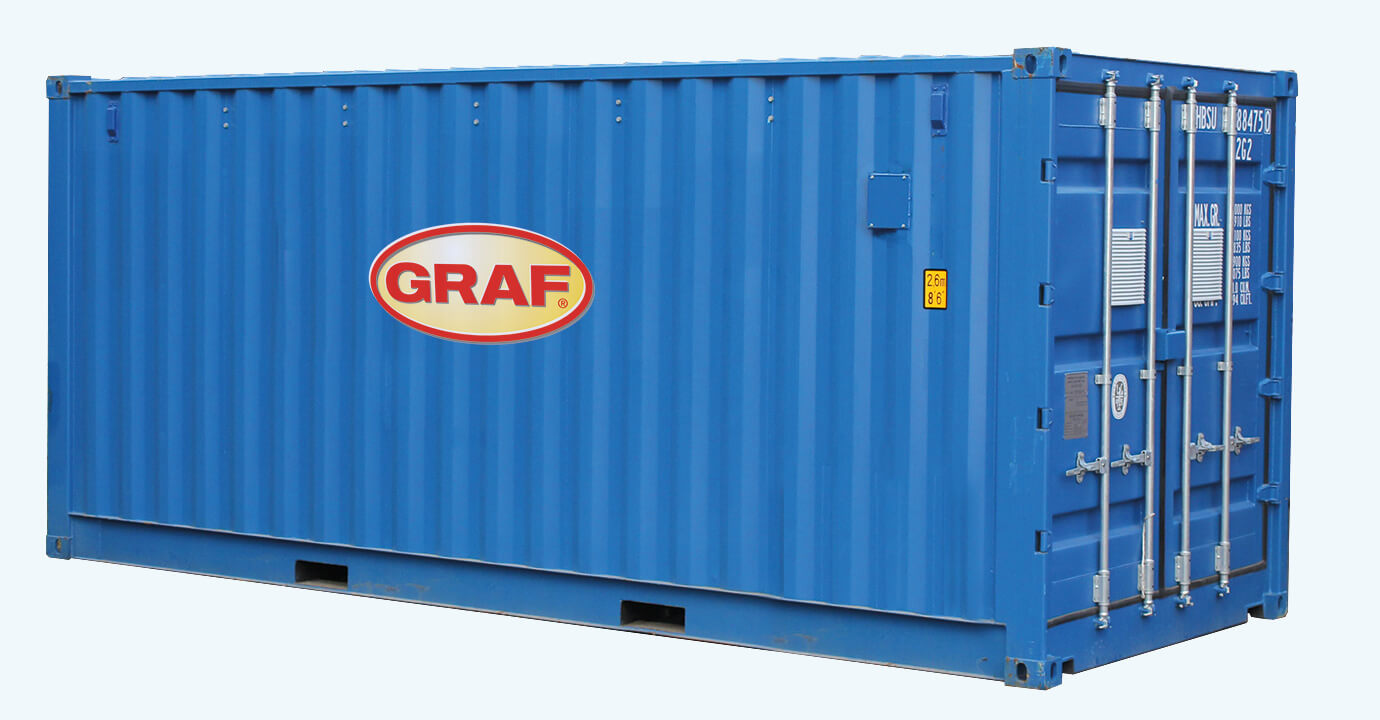 Container Blue From Graf